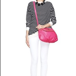 MARC JACOBS Nylon Fold-Over Crossbody Pink Bag